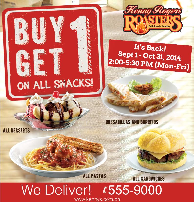 Manila Shopper: Kenny Rogers Buy1 Get1 on ALL Snacks: Sept ...