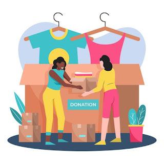 png doando roupas fazendo doação