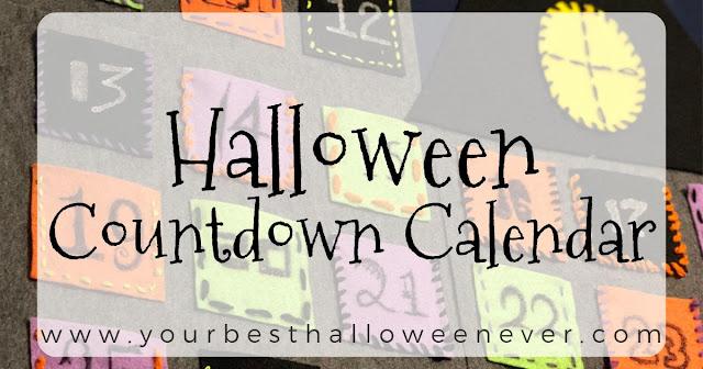 your best halloween ever, halloween advent countdown calendar, halloween diy craft project