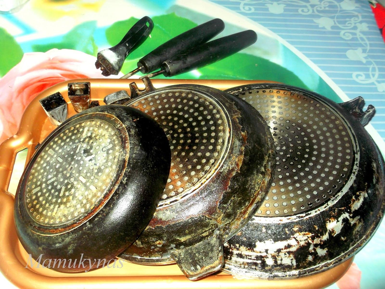 Uogienė iš keptuvės dugno. Jei sudeginta emaliuota keptuvė