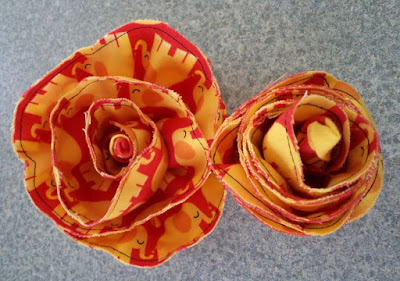 Fabric Flowers crafted by eSheep Designs