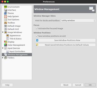 Reset Tampilan GIMP ke Default