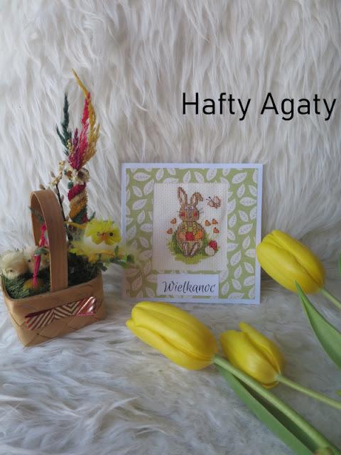 Wielkanocne kartki – zając z Coricamo