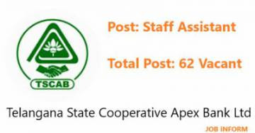 Apex Bank Telangana Job Notification 2019