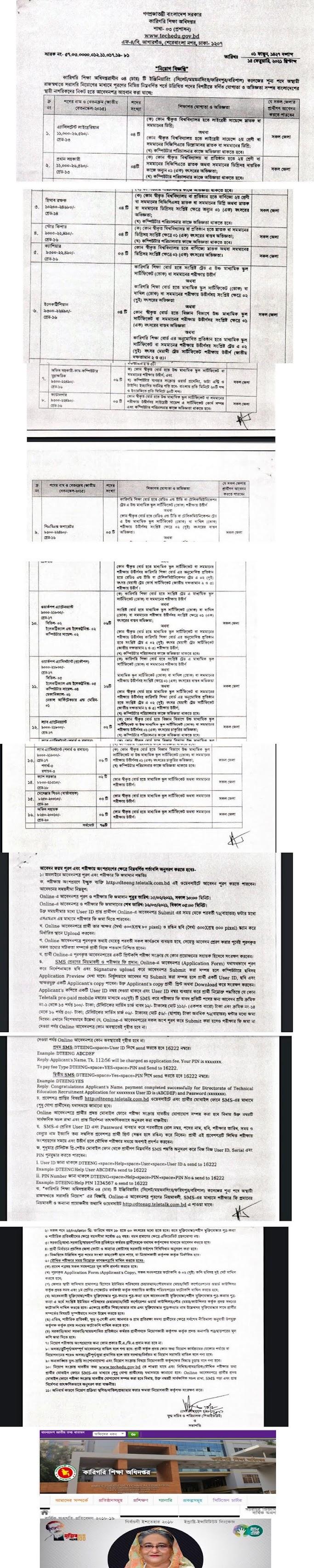 Bangladesh Karigori Shikkha Board Job Circular 2021