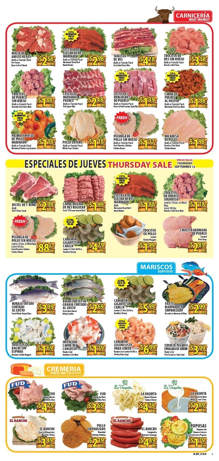 El Rancho Weekly Ad September 11 - 17, 2019