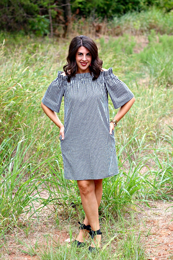 Collyn Raye Etsy Shop Derby Dress, Black and white gingham dress