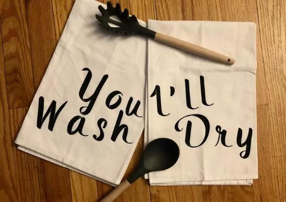 Abundant Blessings You Wash I'll Dry tea towel set