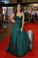 Raashi Khanna in Dark Green Sleeveless Strapless Deep neck Gown at 64th Jio Filmfare Awards South ~  Exclusive 078.JPG