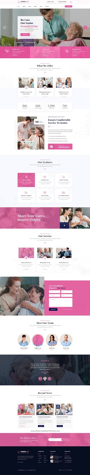 Senior Security PSD Template