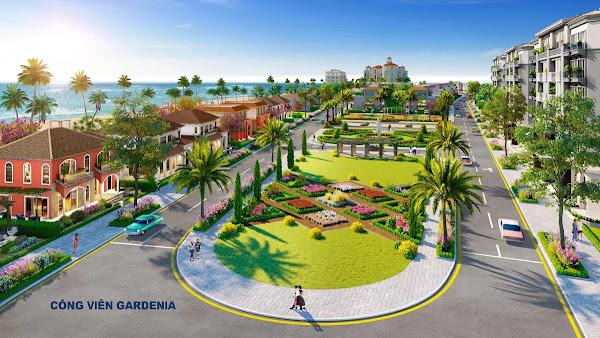 phối cảnh công viên Gardenia tại dự án Habana Island Hồ Tràm của Chủ đầu tư Novaland