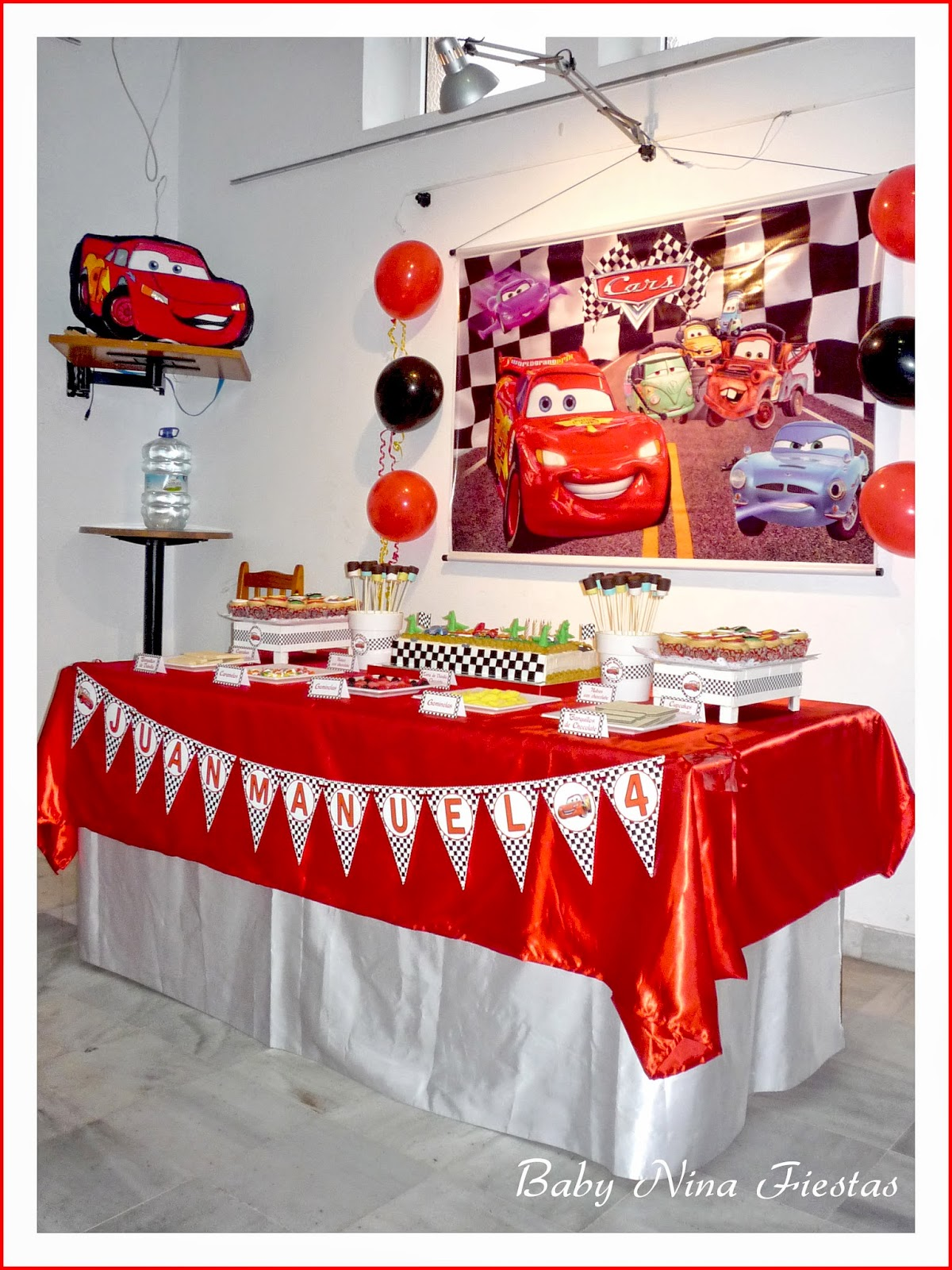Decoración fiesta cars