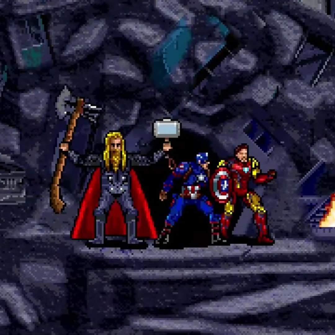 Avengers Endgame Final Battle In 16-Bit :「アベンジャーズ : エンドゲーム」のサノスとの決戦に挑んだファイナル・バトルを、16Bit ゲーム風に再現したショート・アニメ ! !
