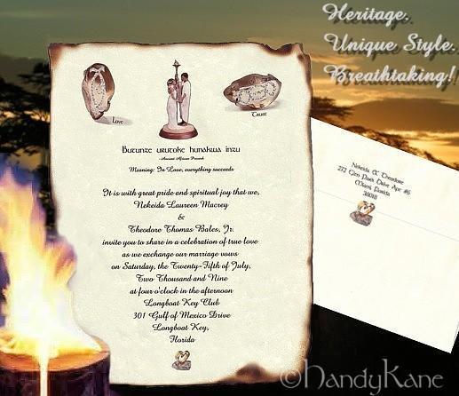 Wedding Invitation Wording: Zulu Wedding Invitation Templates