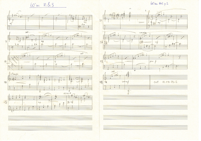 Rachel Portman's original score for the short version of the M&S advert