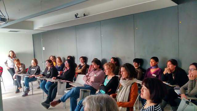 Taller tejeRedes en EDUCO en Barcelona