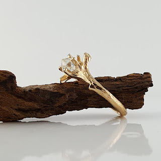 Hand sculpted Twig Bridal Set, hand sculpted, a one-of-a-kind creation.