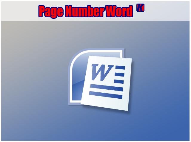 Cara Membuat Page Number (Nomor Halaman) di Office Word 2010