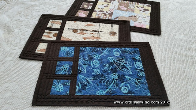 dark brown quilt crafty sewing quilting summer his and hers placemats