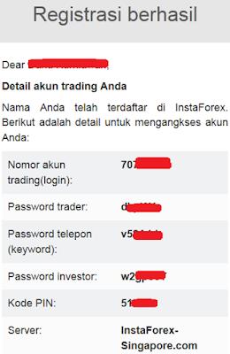 Cara membuat akun InstaForex