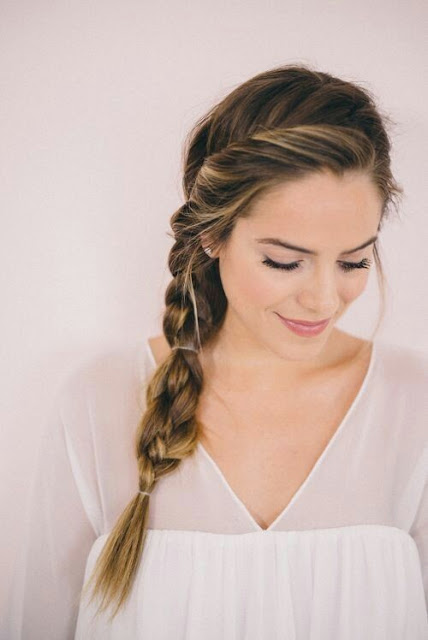 Braide tail hairstyle