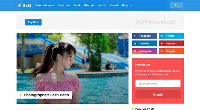 In SEO Pro Premium Responsive Blogger Template
