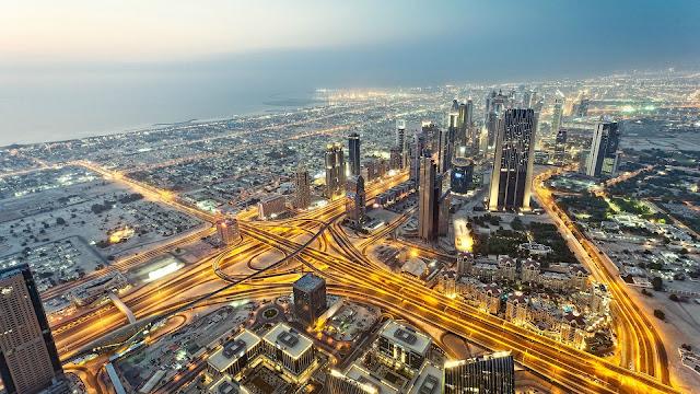 beauty of Dubai over sky