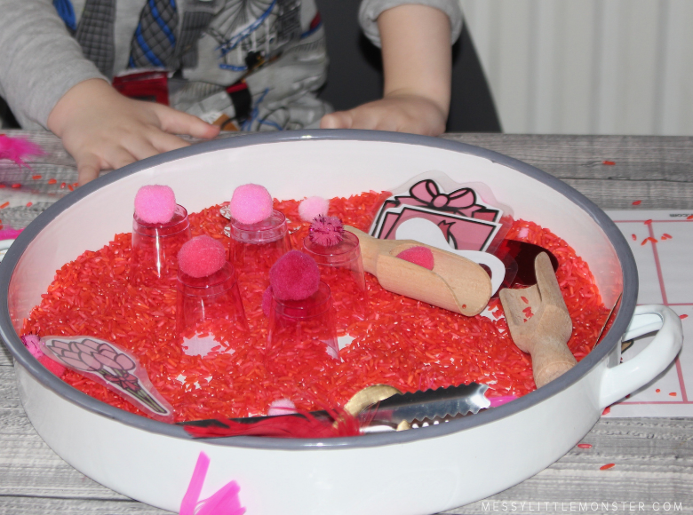 Valentines sensory bin ideas for toddlers