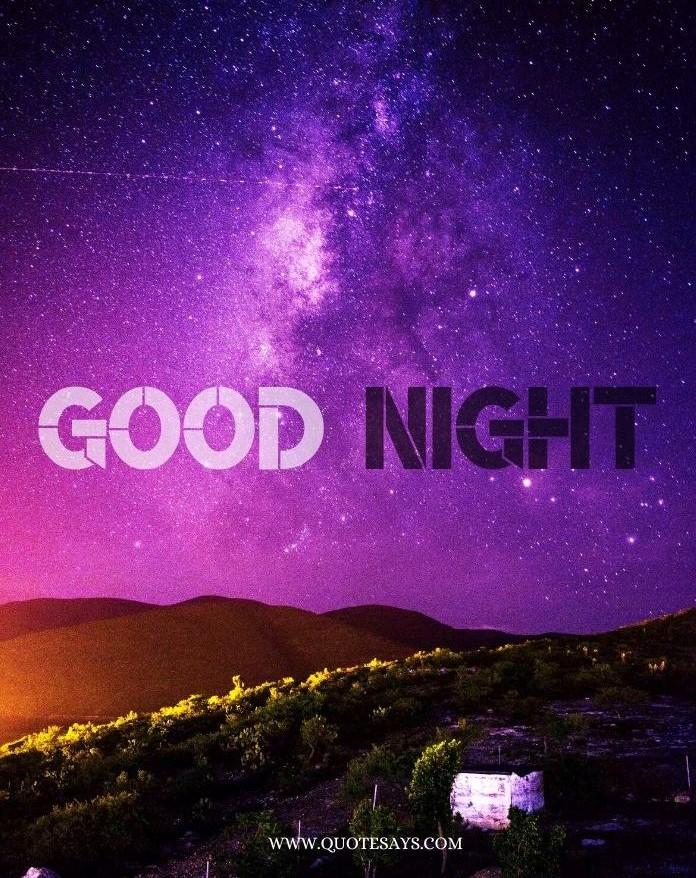 Good Night Pink sky wit stars