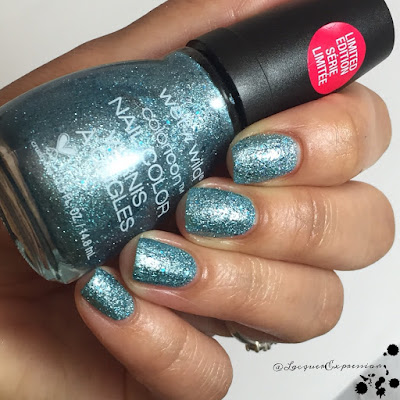 nail polish swatch of bring the 'pagne from the we're the wild cats holiday collection by wet n wild