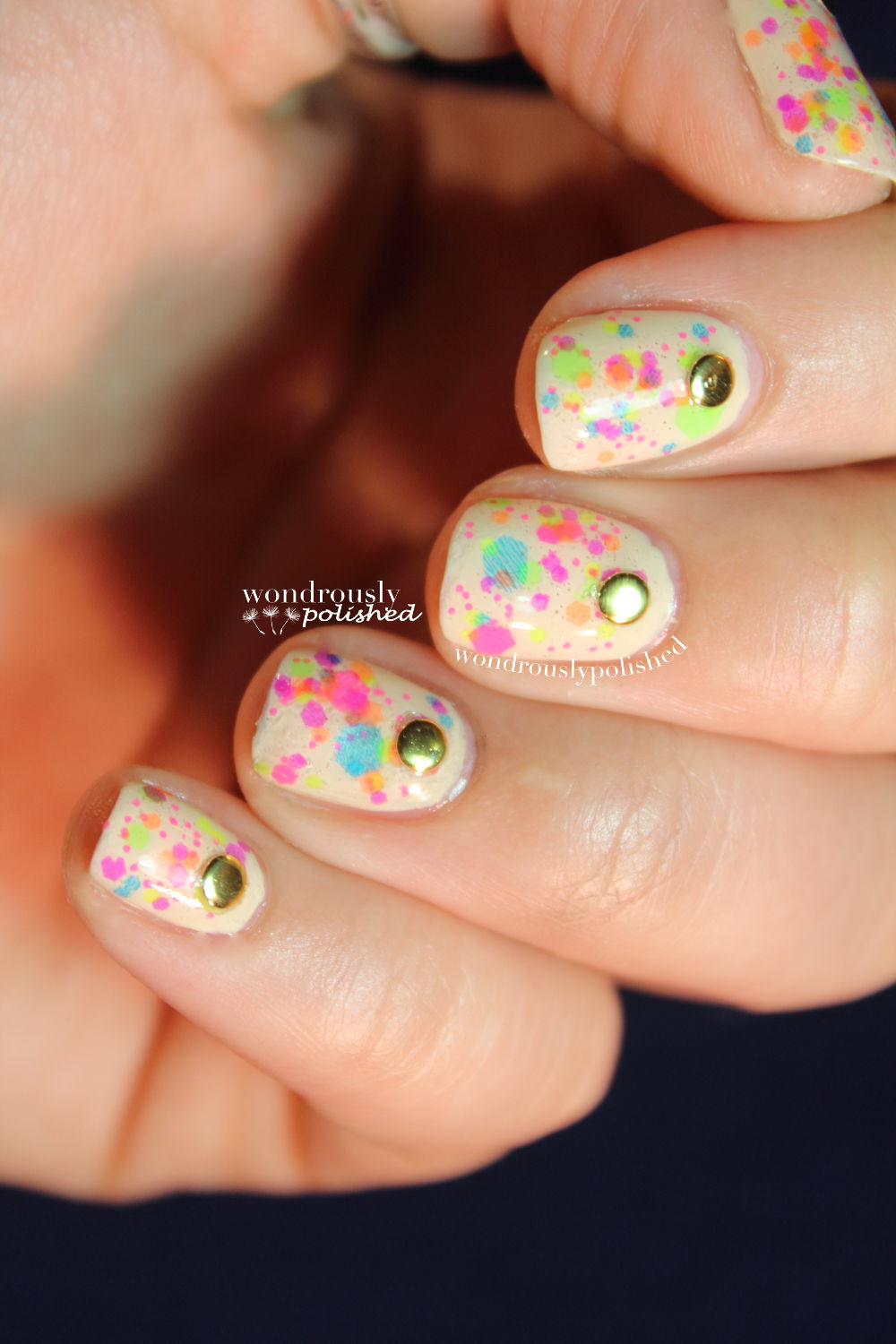 Wondrously Polished February Nail Art Challenge: Wondrously Polished: Clowning Around Birthday Nails