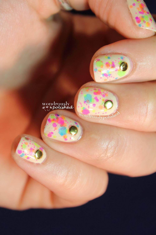 Wondrously Polished April Nail Art Challenge: Wondrously Polished: Clowning Around Birthday Nails