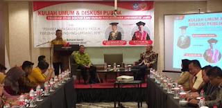 Rektor Univeristas Jambi Secara Resmi Membuka Kuliah Umum Dan Diskusi Publik Program Studi Doktor Ilmu Hukum Pascasarjana Universitas Jambi