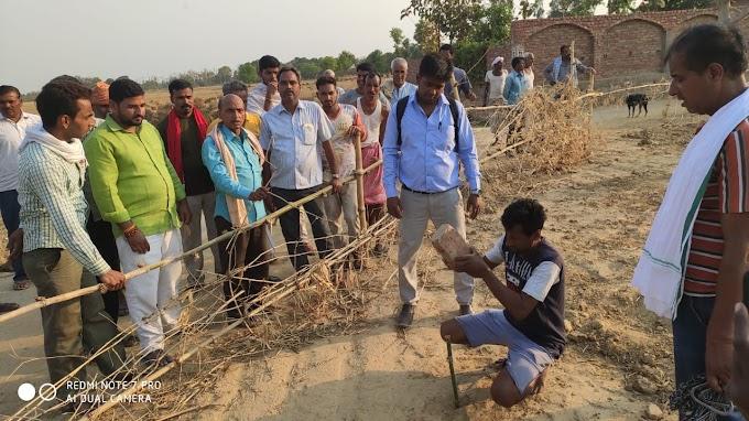 गाँव का तालाब हुआ अतिक्रमण मुक्त, प्रशासन ने कराया सीमांकन