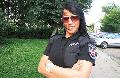 Natalia Rogozińska is currently the most popular police woman in Poland