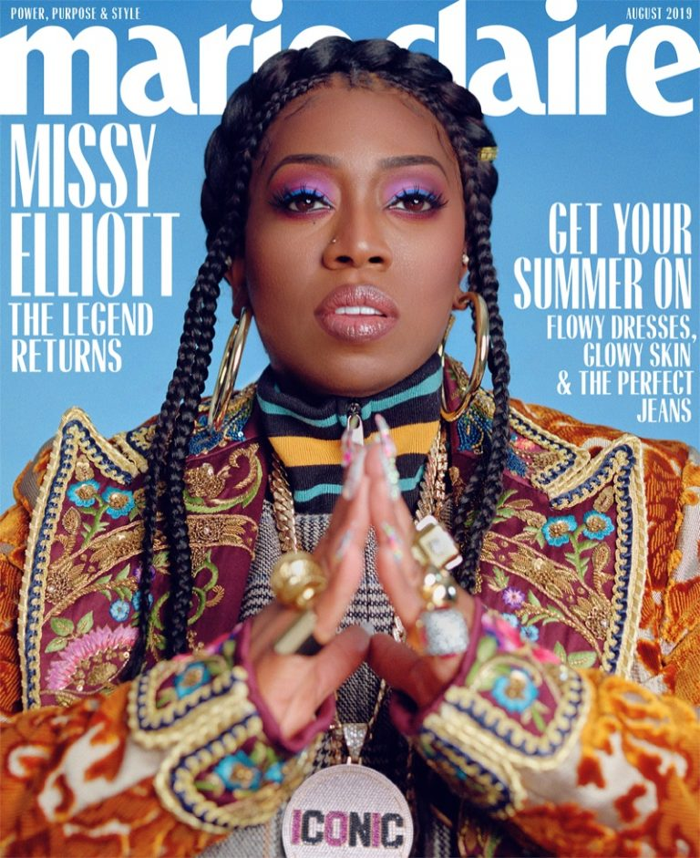Missy Elliott on Marie Claire US August 2019 Cover