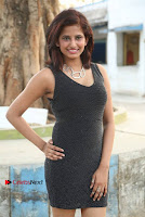 Actress Model Sravani Cute Stills in Silver Tight Short Dress at Pochampally IKAT Art Mela 2017 Launch  0021.jpg