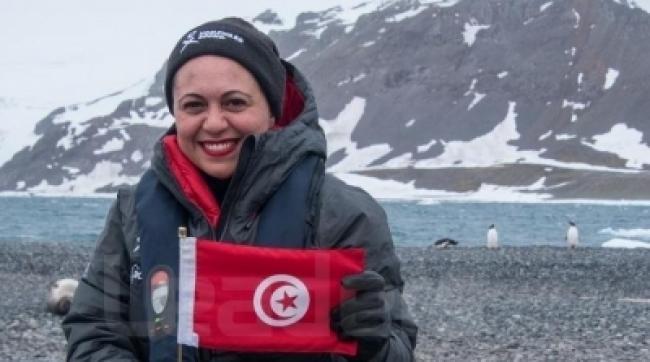 سامية الفقيه : أول تونسية تصل إلى أقصى نقطة بالقطب المتجمد الجنوبي