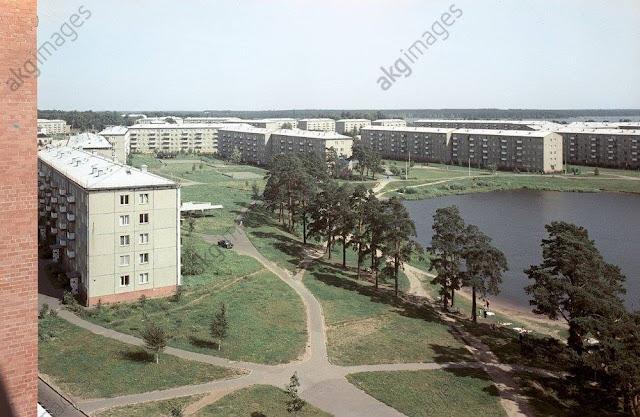 1970-е годы. Рига. Югла. Чёртово озеро (Velnezers). Улица Велдрес