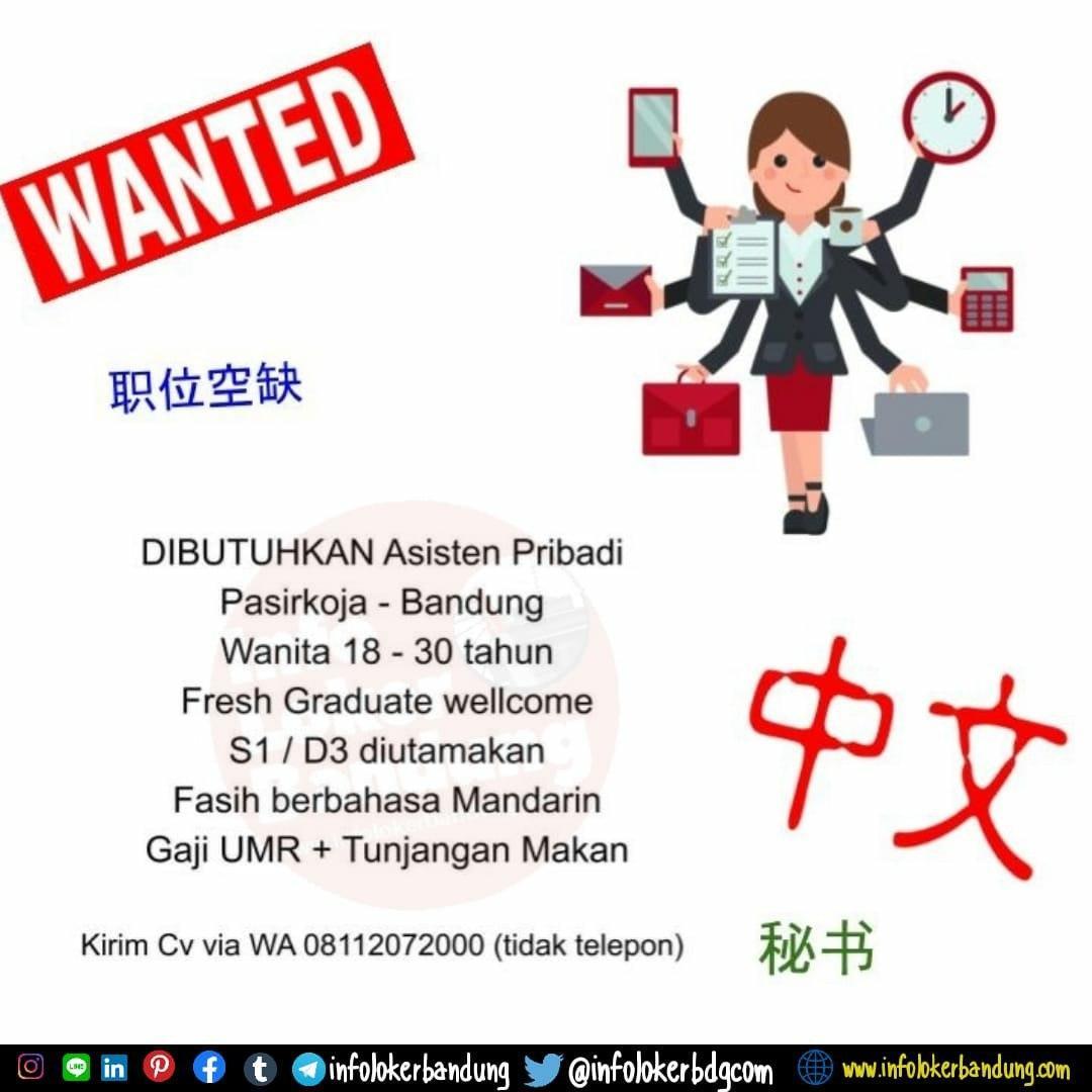 Lowongan Kerja Asisten Pribandi Bandung Februari 2020