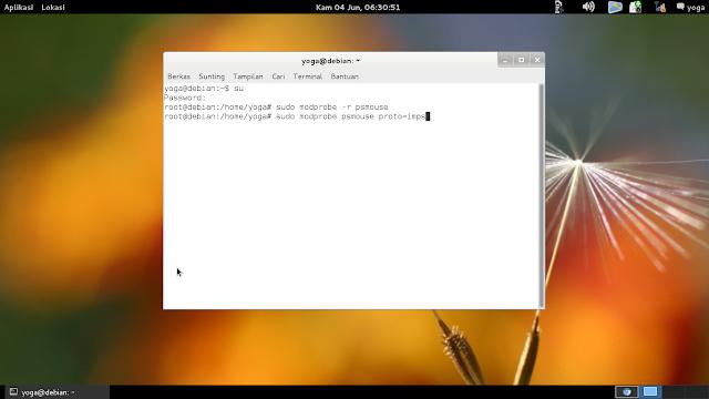 Linux : Mengatasi Debian yang tidak bisa mendeteksi touchpad