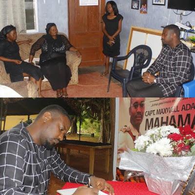 Actor, John Dumelo pays condolence visit to family of slain Ghanaian soldier Major Mahama