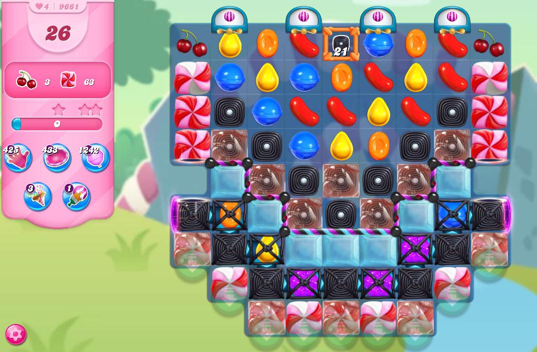 Candy Crush Saga level 9661