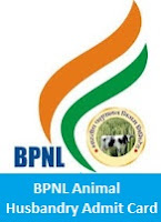 BPNL Animal Husbandry Admit Card