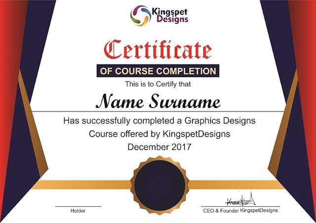 Certificate Mock Up Designs   CorelDraw x7   Kingspet Designs