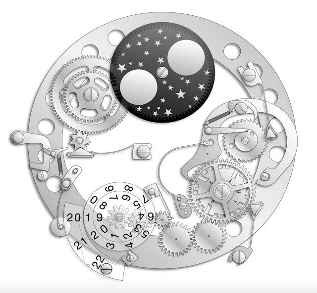 The perpetual calendar mechanism of the IWC Big Pilot's Watch Perpetual Calendar Spitfire IW503601