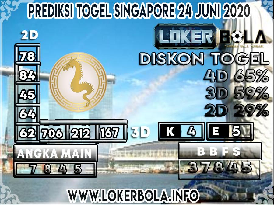 PREDIKSI TOGEL SINGAPORE LOKERBOLA 24 JUNI 2020
