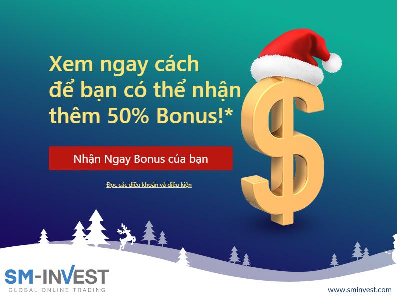 SM-INVEST, Bonus 50% dịp Giáng Sinh đón Năm Mới 2020