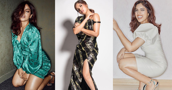 bhumi pednekar stunning sizzling bollywood actress high slit figure