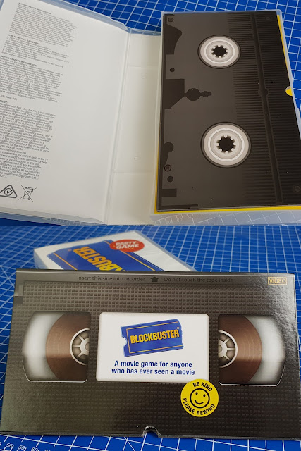 Blockbuster Family Party Game From Big Potato video tape packaging